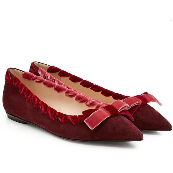 09b6fb12ba051 Fendi Shoes | Brand New Velvet Flats | Poshmark
